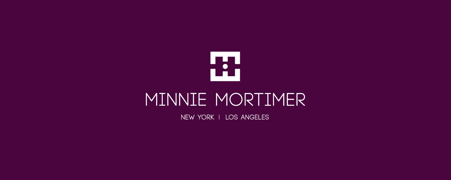 Minnie Mortimer identity logotype white