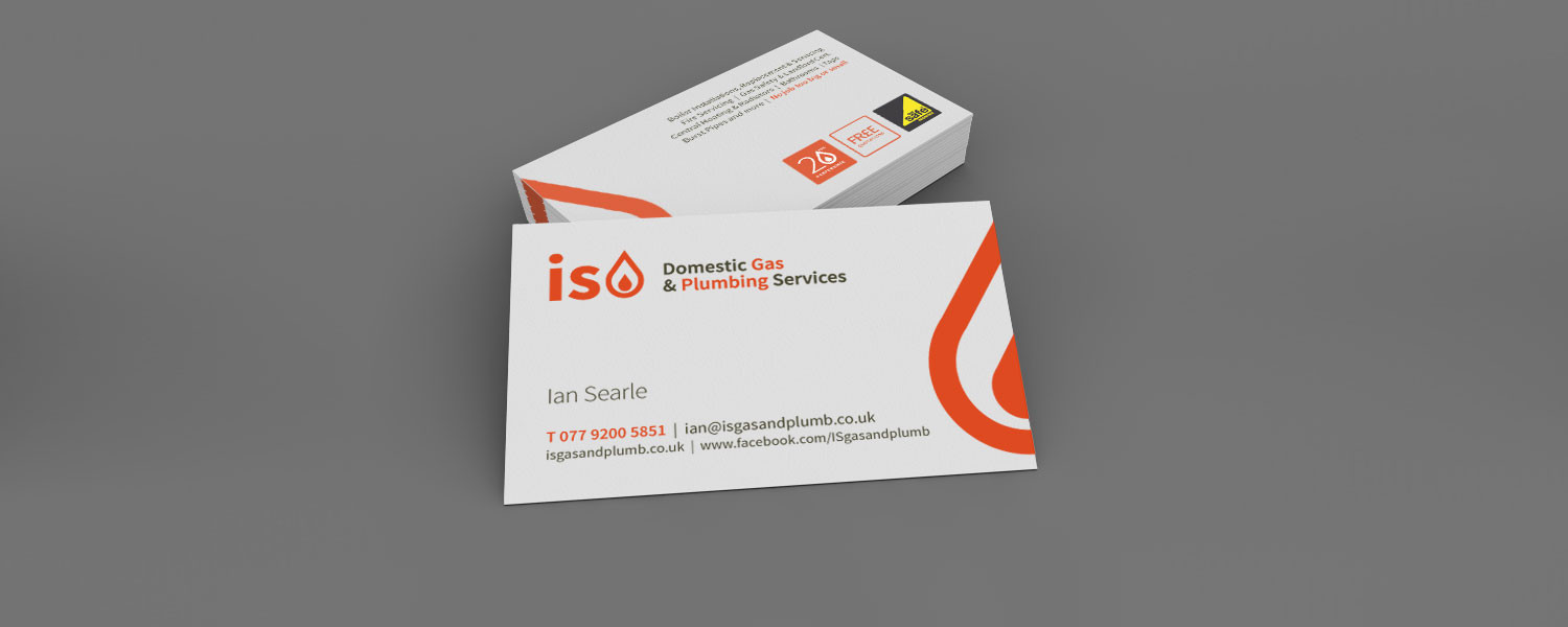 IS Gas business card design